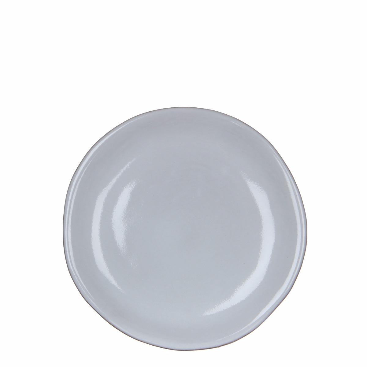 Afbeelding van Casa vivante bord ursula wit h2xd22cm