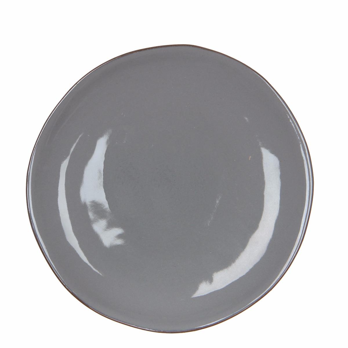 Afbeelding van Casa vivante bord ursula grijs h2xd29cm