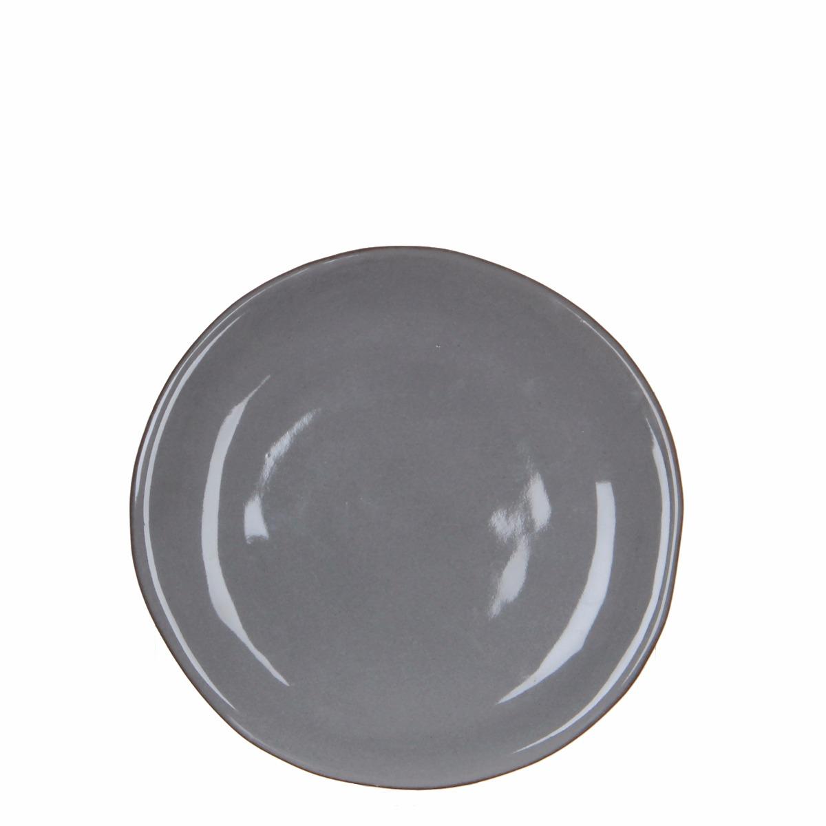Afbeelding van Casa vivante bord ursula grijs h2xd22cm