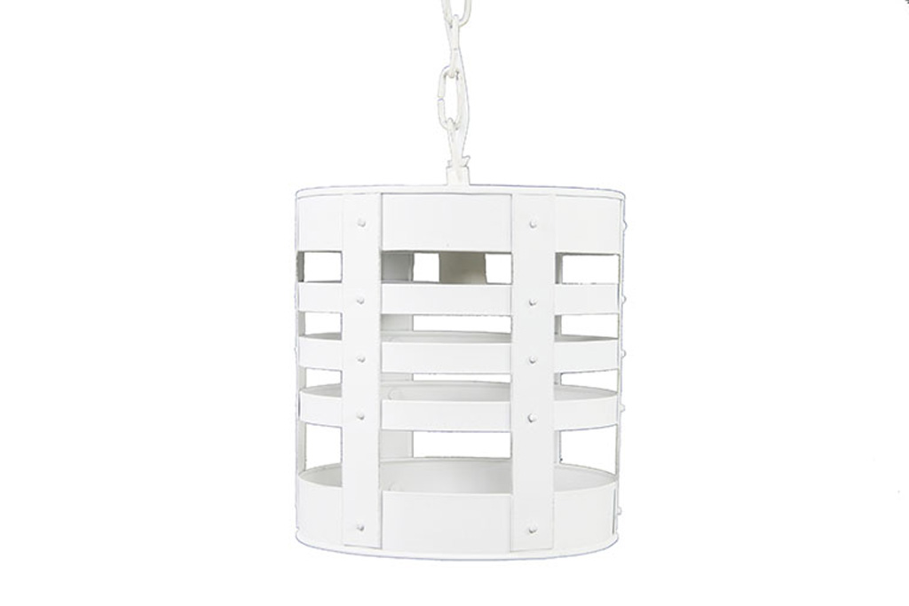 Afbeelding van Countryfield Hanglamp candi emmer 19x108cm wit