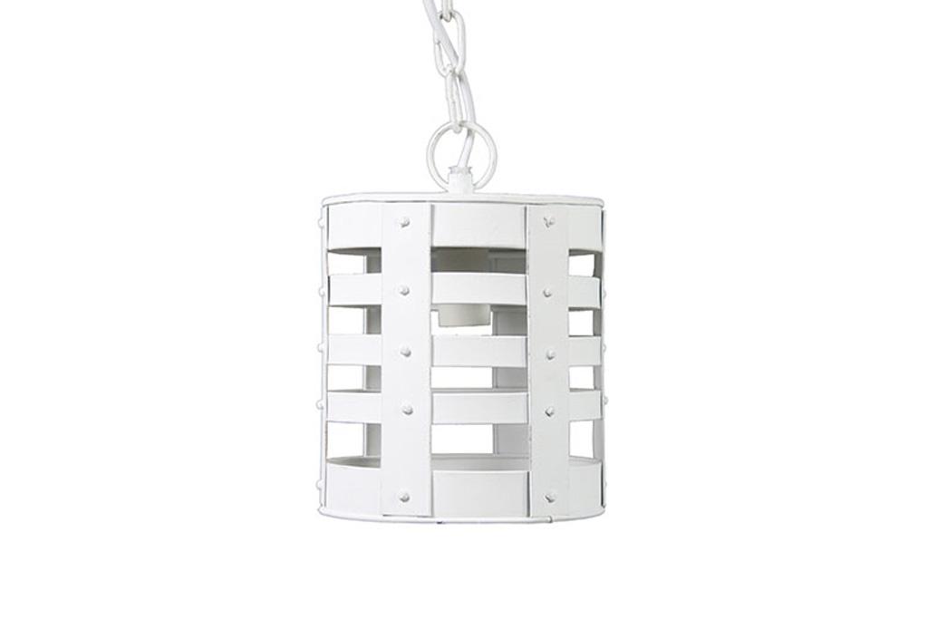 Afbeelding van Countryfield Hanglamp candi emmer 14x104cm wit