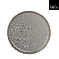 Mica Stef tray rond wit - h2xd25,5cm