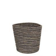 Mica Lombok Pot Rond D.Grijs H18xD18cm