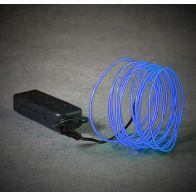 Mica Neon Light Snoer Blauw LED L275cm