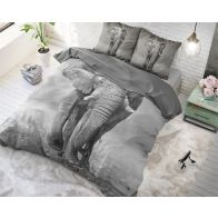 Dekbedovertrek Elegant Elephant Anthracite
