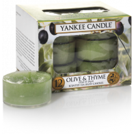Yankee Candle Olive & Thyme  Tea Lights 12 st