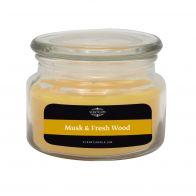 Scentchips Kaars Musk & Fresh Wood 240gr