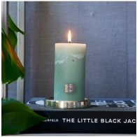 Riviera Maison Rustic Candle Olive Green 7x13cm