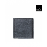 Mica Slate tray vierkant sand-cement l.grijs - l24xb24xh2cm