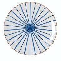 Riverdale Bord Lines blue 26cm
