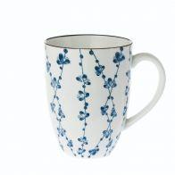 Riverdale Jumbo mok Leaves blue 13cm