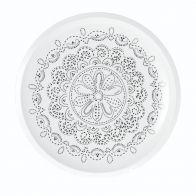 Riverdale Pizzabord Flower White 30cm