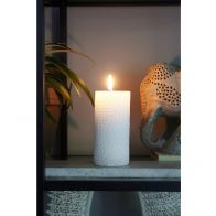 RIVIERA MAISON CORAL REEF CANDLE WHITE 7X15