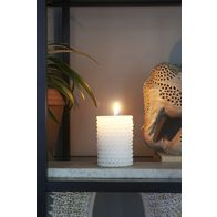 RIVIERA MAISON SAILOR ROPE CANDLE WHITE 7X10