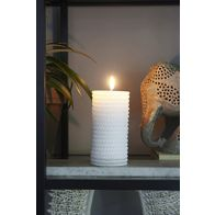 RIVIERA MAISON SAILOR ROPE CANDLE WHITE 7X15