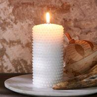 Riviera Maison Pretty Pearl Candle 7x14