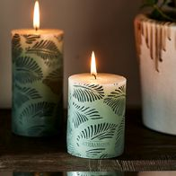Riviera Maison Palm Leaves Candle 7x10cm