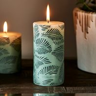 Riviera Maison Palm Leaves Candle 7x14cm