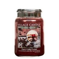 Village Candle Cherry Coffee Cordial Large Candle