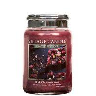 Village Candle Dark Chocolate Rose Large Candle