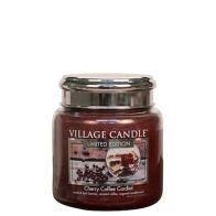 Village Candle Cherry Coffee Cordial Medium Candle