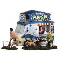 Lemax Wally's Pet Wash Wagon Set Of 3