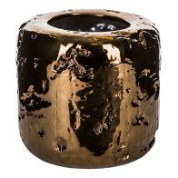 PTMD Sparkling Copper Ceramic Round Pot L