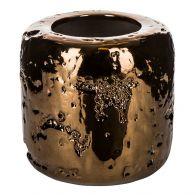 PTMD Sparkling Copper Ceramic Round Pot M