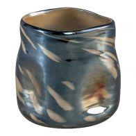 PTMD Topaz Blue Glass Vase M