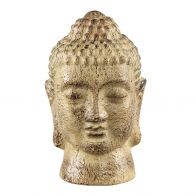 PTMD Cambodja Yellow ceramic buddha head L