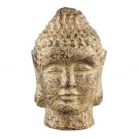 PTMD Cambodja Yellow ceramic buddha head M