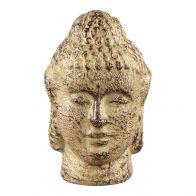 PTMD Cambodja Yellow ceramic buddha head S