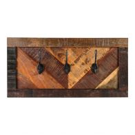 PTMD Miran Natural reclaimed wood coat rack rectangle