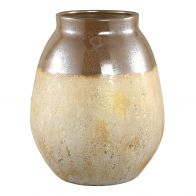 PTMD Maze Gold Ceramic Long Pot Round High S