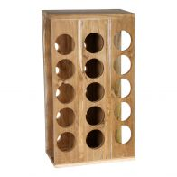 PTMD Chazz Wood Natural Winerack Square