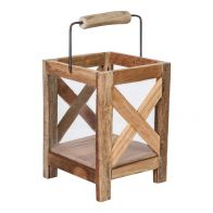 PTMD Budy Natural Wood Lantern Square S