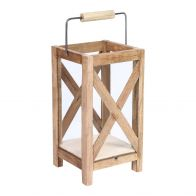 PTMD Budy Natural Wood Lantern Square L