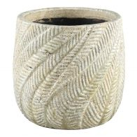 PTMD Vita Cream Ceramic Palm Pot Round XL