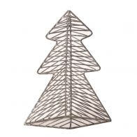 PTMD Christmas Iron Deco Grey Tree Statue S