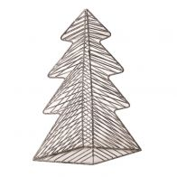 PTMD Christmas Iron Deco Grey Tree Statue M
