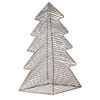 PTMD Christmas Iron Deco Grey Tree Statue L
