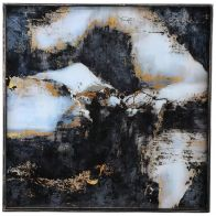 PTMD Chiron Glass Paintin Black Gold Marbleprint Square