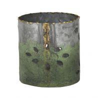PTMD Lissy Grey Iron Pot Green Bottom Round S