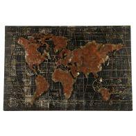 Countryfield Schilderij Wereldkaart Retraw