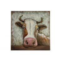 Countryfield Schilderij Cow Front Bruin