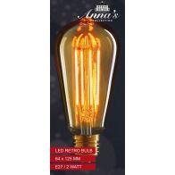 LED RETRO LAMP 64X145MM E27 2W