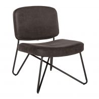 Le Chair Fauteuil Abby Antraciet