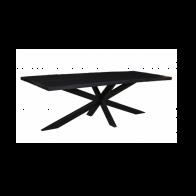 Eetkamertafel Brazil Zwart 180x90cm