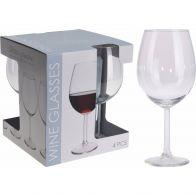 Rode Wijnglas 580ml Set 4-Delig