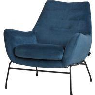 Le Chair Fauteuil Chevy Velvet Blue